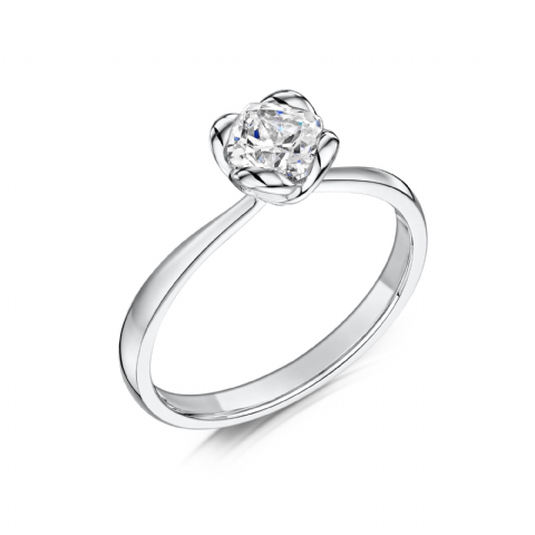 0.4 Carat GIA GVS Diamond solitaire 18ct White Gold Cushion shaped Engagement Ring MWSS-1184/040